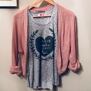 Rubbish {Nordstrom} Pink Cropped Cardigan